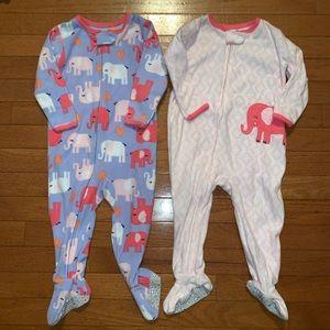 Two Elephant Footie Pajamas